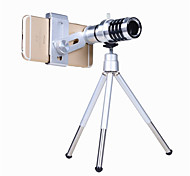 Orsda® Phone Camera Lens Kit 12x Optical Zoom Universal Smartphone Telephoto Telescope Lens with Tripod Sliver