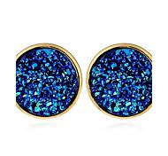 Women's Stud Earrings Hoop Earrings Geometric Fashion Resin Alloy Jewelry For Casual Street