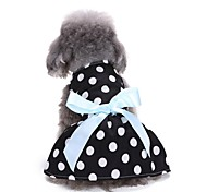 Недорогие -Кошка Собака Платья смокинг Одежда для собак Для вечеринки На каждый день Свадьба Новый год Горох Черный