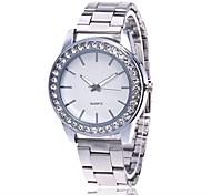 Недорогие -Муж. Жен. Наручные часы Повседневные часы Имитационная Четырехугольник Часы Китайский Кварцевый Металл Группа Серебристый металл