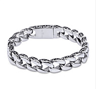 cheap -Men's Chain Bracelet - Stainless Steel Unique Design, Simple Style, Fashion Bracelet Silver For Christmas Gifts / Daily / Casual