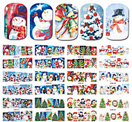 1 Nail Art Sticker  Pattern Accessories Grooming Art Deco/Retro Water Transfer Sticker Water Transfer Decals Cartoon 3-D Christmas New