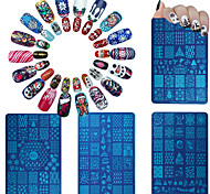 6 Стемпинг Пластины изображения шаблона Стампер скреперов