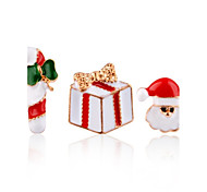 Women's Clip Earrings Cute Style Classic Gold Plated Alloy Geometric Jewelry For Stage Christmas