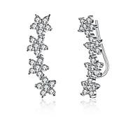 Women's Stud Earrings Drop Earrings Crystal Cubic Zirconia Fashion Personalized Sterling Silver Cubic Zirconia Geometric Irregular Jewelry