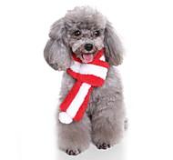 Недорогие -Собака Шарф для собаки Рождество Одежда для собак Мультипликация Серый Кофейный Красный Зеленый Розовый Костюм Для домашних животных