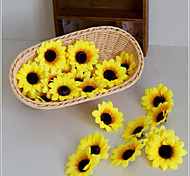 cheap -10 Branch Polyester Sunflowers Tabletop Flower Artificial Flowers