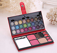 cheap -1Make Up Box 24 Eye Shadow 2 Blush 2 Eyebrow Powder 1 Powder 4 Lipstick Cosmetic