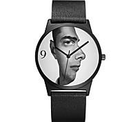 Herrn Damen Modeuhr Armbanduhr Einzigartige kreative Uhr Japanisch Quartz Chronograph Wasserdicht Echtes Leder Band Luxus Freizeit Cool