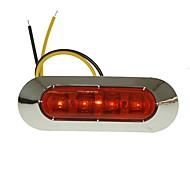 Недорогие -sencart 1pc 4led 2835smd желтая лампа тормоз сторона габарит легкий грузовик прицеп указатель ac / dc10-30v
