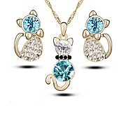 cheap -Women's Drop Earrings Necklace Crystal Rhinestone Lovely Fashion Daily Crystal Imitation Diamond Alloy 1 Necklace Earrings
