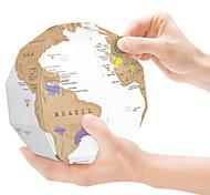 Карта царапин Сцарапать карту мира для путешественников Игрушки Шары карта 3D Взрослые 1 Куски
