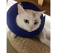 Кошка Собака Ошейники Одежда для собак Круглый дизайн На каждый день Сохраняет тепло Однотонный Синий Костюм Для домашних животных