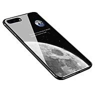 Недорогие -Кейс для Назначение Apple iPhone X iPhone 8 Plus С узором Кейс на заднюю панель Цвет неба Мягкий Закаленное стекло для iPhone X iPhone 8