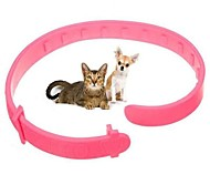 cheap -Cat Dog Collar Portable Foldable Solid Plastic Pink