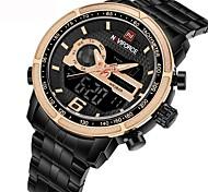 Недорогие -NAVIFORCE Муж. электронные часы Уникальный творческий часы Армейские часы Японский Кварцевый Календарь Секундомер Защита от влаги Крупный