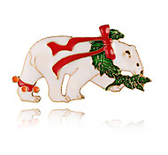 cheap -Women's Brooches Basic Elegant Sweet Alloy Others Bear White Jewelry For Christmas New Year