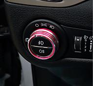 Automotivo Tampa dos botões do farol Gadgets de Interior Personalizáveis para Carros Para Jeep Todos os Anos Cherokee Metal