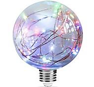 Недорогие -1шт 3W 250lm E27 LED лампы накаливания G95 33 Светодиодные бусины Integrate LED звездный Разные цвета Розовый Синий 85-265V