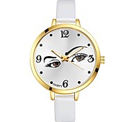 Women's Wrist watch Battery Cases Chinese Quartz Large Dial PU Band Casual Elegant Colorful Black White Blue Red Brown Pink Purple Rose