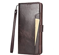 Case For Samsung Galaxy Note 8 Note 5 Card Holder Flip Full Body Solid Color Hard PU Leather for Note 8 Note 5