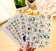 4 шт / набор мультфильм собака дневник стикер телефон стикер записки наклейки