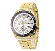 Men's Fashion Watch Dress Watch Wrist watch Chinese Quartz Calendar Large Dial Alloy Metal Band Luxury Casual Gold Rose Gold