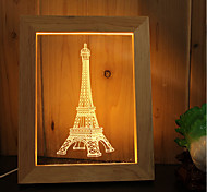 1 Set Of Home Decoration Acrylic 3D Night Light LED Lamp USB Mood Lamp, Photo Frame Light, Dimming, 3W, Tower