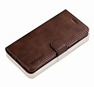 cheap -Case For Huawei P10 Mate 9 Card Holder Wallet Flip Full Body Solid Color Hard Genuine Leather for Huawei P10 Plus Huawei P10 Lite Huawei