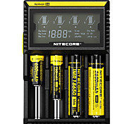 Nitecore D4 Flashlight Accessories Chargers Smart Power Display for 18650 14500 18650
