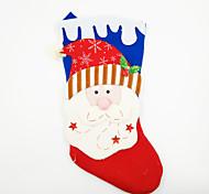 cheap -Large Non-Woven Fabric Christmas Stocking Christmas Ornament Santa Claus