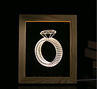 cheap -1 Set Of 3D Mood Night Light LED Lights USB Bedroom Photo Frame Lamp Gifts Diamond Ring