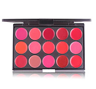 cheap -15 Colors Red Sexy Matte Lipstick Palette Waterproof Makeup Velvet Lip Stick Palette