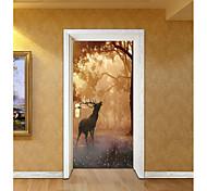 Недорогие -Животные Рождество ботанический Наклейки Корпус Простые наклейки 3D наклейки Декоративные наклейки на стены Свадебные наклейки, Бумага