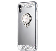 cheap -Case For Apple iPhone X iPhone 8 Rhinestone with Stand Back Cover Solid Color Hard Acrylic for iPhone X iPhone 8 Plus iPhone 8 iPhone 7