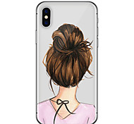 cheap -Case For Apple iPhone X iPhone 8 iPhone 6 iPhone 6 Plus Ultra-thin Pattern Back Cover Sexy Lady Soft TPU for iPhone X iPhone 8 Plus