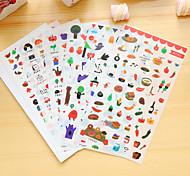 6 шт / набор продовольствия дневник стикер телефон стикер записки наклейки