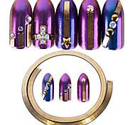 Недорогие -1 Блеск Орнаменты Ленты Украшения для ногтей металлический Стиль Глянцевые Мода Милый Высокое качество Повседневные