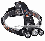 Headlamps Headlight LED 3000 lm 4 Mode Cree XM-L T6 Impact Resistant Rechargeable Waterproof for Camping/Hiking/Caving Everyday Use