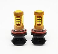 2PCS Golden Yellow H8/H11 56W LED Car Fog Light SMD 3030 28 LED Fog Lamp LED Daytime Runing Light DRL DC12V