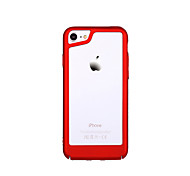 abordables -Funda Para Apple iPhone 7 Plus iPhone 7 Ultrafina Marco Antigolpes Color sólido Dura ordenador personal para iPhone X iPhone 7 Plus