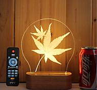 Недорогие -1 набор из 3 твердых древесины привело ночь света USB-подсветка настроение лампа дистанционного управления dimming подарок кленовые листья