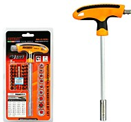abordables -41 en 1 kit de herramientas de reparación de automóviles destornillador conjunto torx sockets kit t-handle herramientas de mano de ahorro