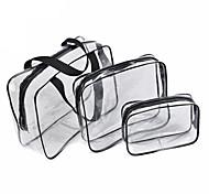 Недорогие -3шт косметический мешок набор прозрачный мешок красоты водонепроницаемые сумки мыть сумки дамы составляют