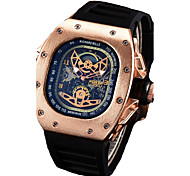 cheap -Men's Quartz Wrist Watch Chinese Calendar / date / day / Chronograph / Water Resistant / Water Proof / Hollow Engraving / Cool Silicone