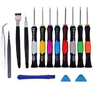 Teléfono móvil Kit de herramientas de reparación Pinzas Destornillador Plástico / acero Stianless Pry Cuchillo Herramientas de Recambio