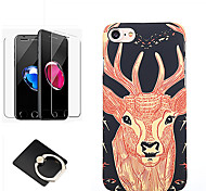 cheap -Case For Apple iPhone 8 iPhone 8 Plus Pattern Back Cover Christmas Animal Hard PC for iPhone 8 Plus iPhone 8 iPhone 7 Plus iPhone 7
