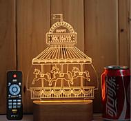 Недорогие -1 набор из 3-х цельных деревянных светодиодных лампочек с подсветкой usb пульт дистанционного управления димминг подарочная площадка