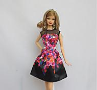 Party/Abends Kleider Für Barbie-Puppe Schwarz Für Mädchen Puppe Spielzeug