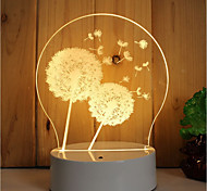 1 Set Of 3D Mood Night Light Hand Feeling Dimmable USB Powered Gift Lamp Dandelion